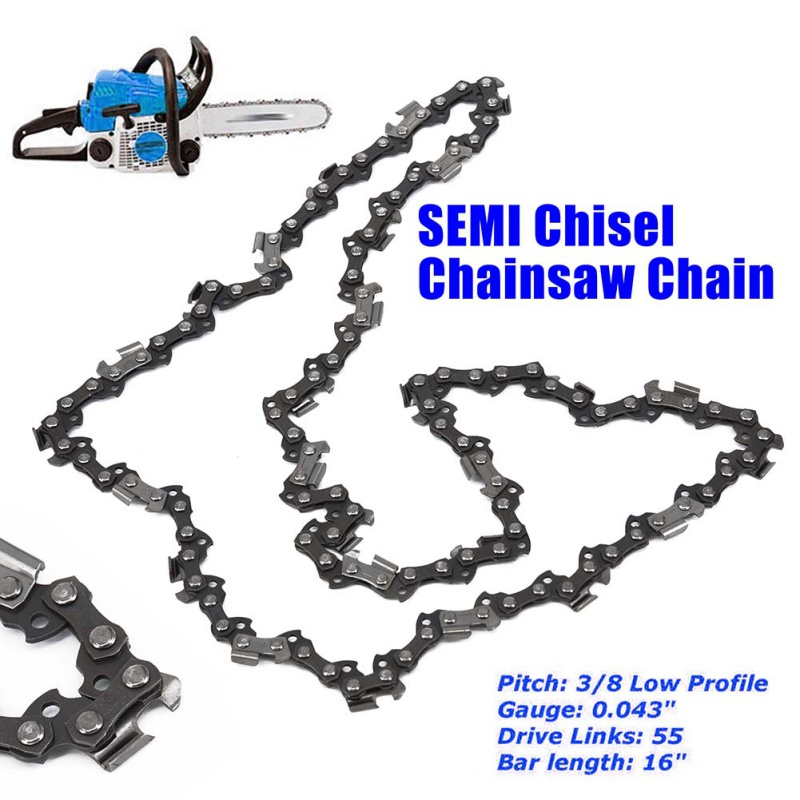 "16"" Chainsaw Saw Chain Blade Replacement 3/8 Pitch 0.043'' G"